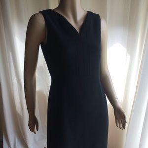 Black V-Neck Cotton Dress